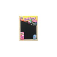 CHALK BLACK BOARD 23X30CM  A4 + CHALK + RUBBER