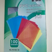 PVC BINDING COVER  A3 180 MICRONS 100PCS