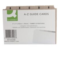 RECORD CARD INDEX 6X4 A-Z BUFF Q-C