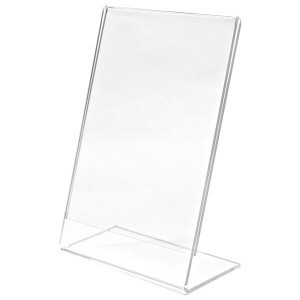 A4 L SHAPED STAND ACRYLIC N-87