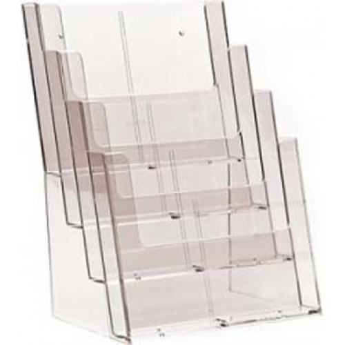 A5 4-TIER ACRYLIC STAND N-70 LEAFLET