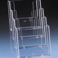 A6 4-TIER ACRYLIC STAND N-69 LEAFLET
