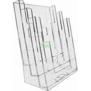 A4 3-TIER ACRYLIC STAND N-71  LEAFLET