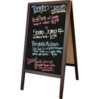 BLACK BOARD DOUBLE SIDED WITH STAND 60X90