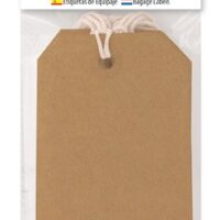 LUGGAGE LABELS 20 BROWN