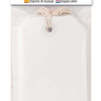 LUGGAGE LABELS 20 WHITE