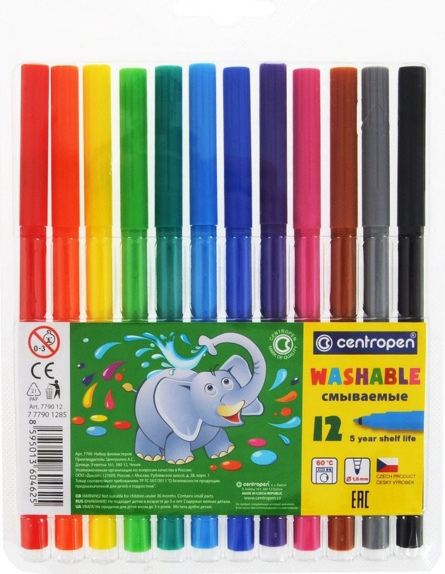 COLOUR MARKERS X12 WASHABLE 7790