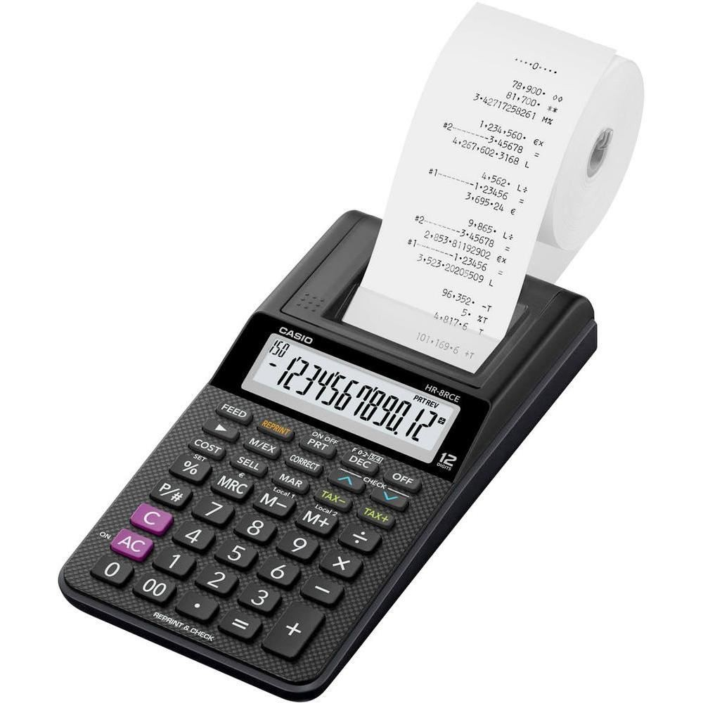 CALCULATOR PRINTING – CASIO HR-8RCE 12 DIGIT