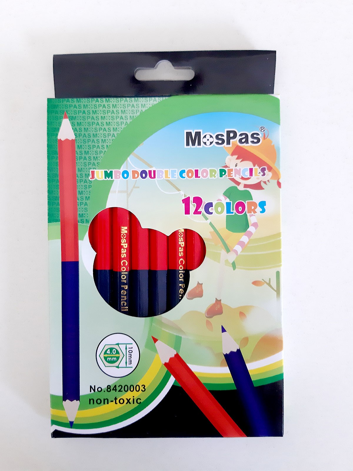 COLOR PENCIL JUMBO BLUE & RED 12PCS