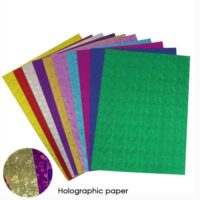 CRAFT PAPER HOLOGRAPHIC A4 10PCS