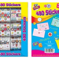 box of 480 foil stickers