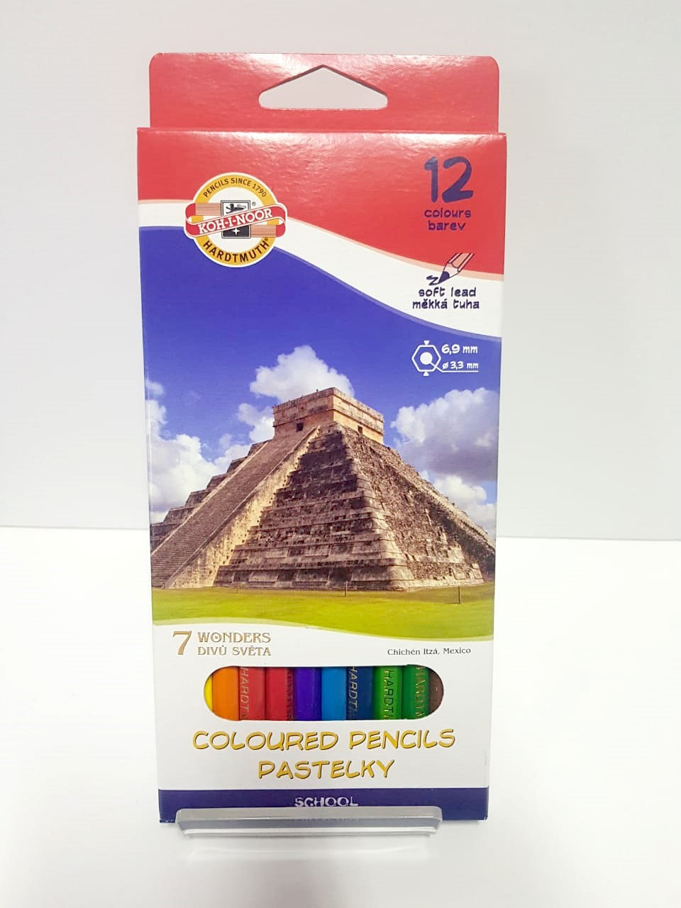 COLOURED PENCILS 12PCS PASTELSKY