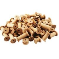 WOODEN SPOOLS NATURAL ASST SIZES 60