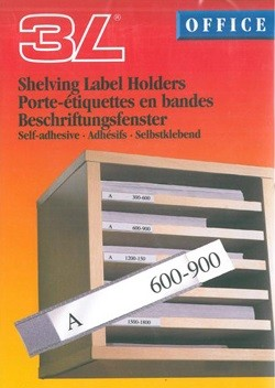 SHELVING LABEL HOLDERS – 15x150mm 10-PAC