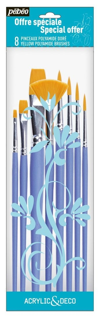 BRUSH SET  951170 PACK OF 8