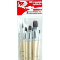 BRUSH SET 8 BROWN POLY N75 100