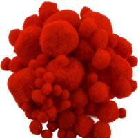 POMPONS RED 2740 10-45MM