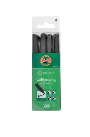 CALLIGRAPHY MARKERS SET OF 4 3514 4