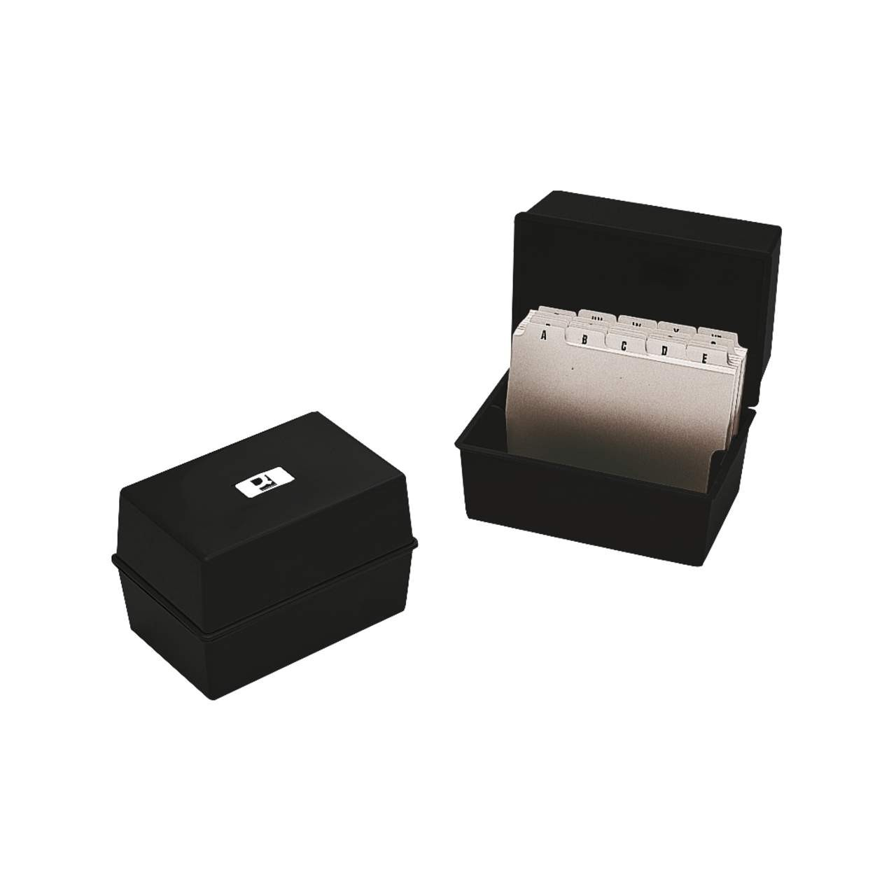 CARD INDEX BOX 6X4 BLACK Q-CONNECT