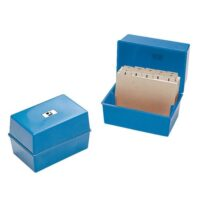 CARD INDEX BOX 8X5 BLUE Q-CONNECT
