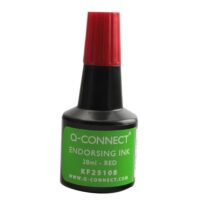 ENDORSING INK RED 28ML Q-CONNECT