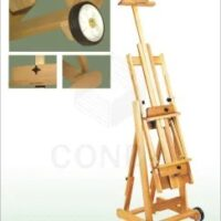 EASEL A13158 MOBILE 131X50X43 BEECHWOOD (2 WHEELS)