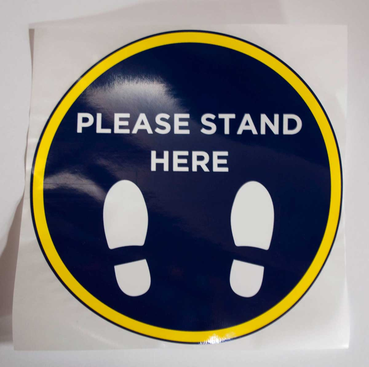 STICKER PLEASE STAND HERE