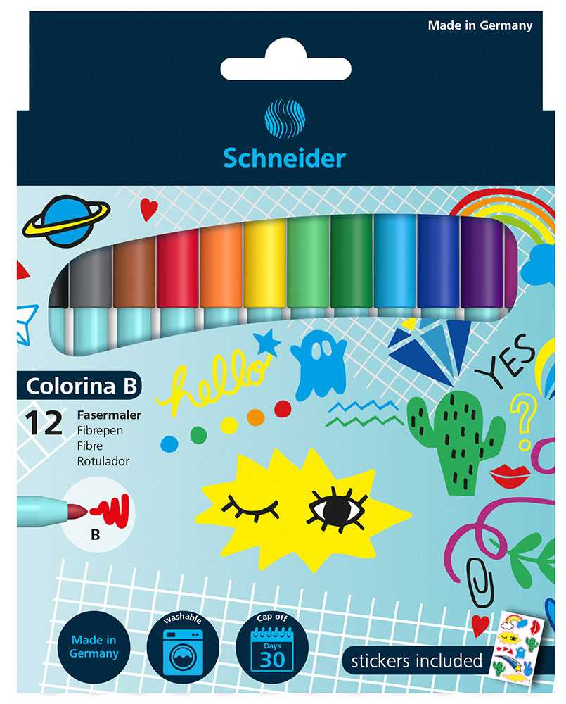 FIBREPEN COLORINA B WALLET 12 PIECES