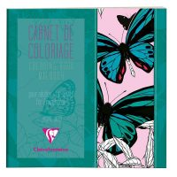 Adult colouring bk 36P 20x20cm Butterfly