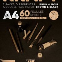 Brown & Black laid kraft 90g A4 60sh pad