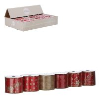 1082607-RIBBON RED 6 ASSORTED DISPLAY-L270XW6CM
