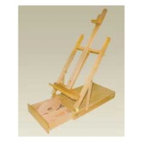 EASEL A13126 88X33X17 WOOD WITH SMALL PALETTE