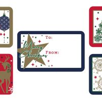 X-28182-SC 50 GIFT TAG CONTEMPORARY